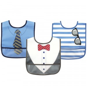 Luvable Friends 3Pc PEVA Bibs(Bow Tie)