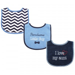 """LUVABLE FRIENDS 3PC BABY BIBS """"I LOVE MY AUNT"""""""