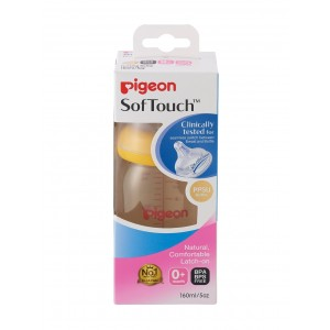 Pigeon Softouch Peristaltic Plus Wide Neck PPSU Bottle Orange (160ml)