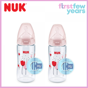 NUK First Choice Plus baby bottle with temperature control(300ml-Twin Pack)