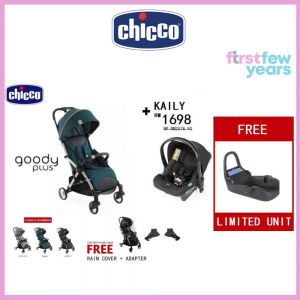 CHICCO GOODY PLUS COMPACT LIGHT WEIGHT STROLLER TRAVEL SYSTEM