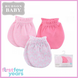 Hudson Baby: Scratch Mittens - 3 Pairs