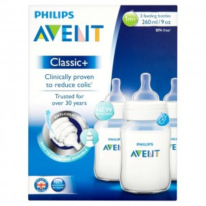 PHILIPS AVENT  Classic+   Feeding Bottles 9OZ 3pk Special Edition