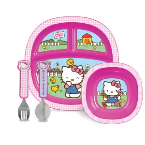 MUNCHKIN Hello Kitty Dining Set