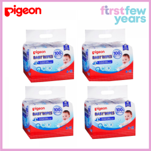 Pigeon 100% Pure Water Baby Wipes 80s X 24 [CARTON Deal]