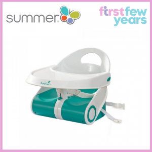 Summer Infant Sit 'n Style™ Comfort Folding Booster Seat (White/Teal)