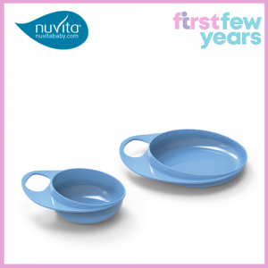 NUVITA EASY EATING PLATE AND BOWL SET