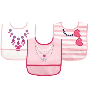Luvable Friends 3Pc PEVA Bibs (Necklace)