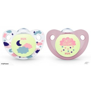 NUK Orthodontic Night & Day Glow In The Dark Silicone Soother