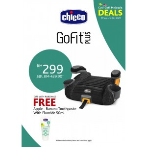 Chicco GoFit Plus Backless Booster Seat- Iron Us