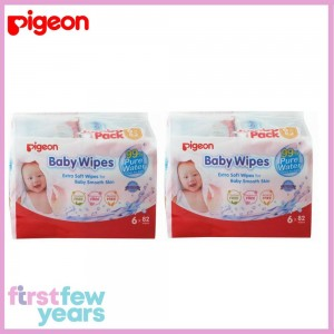 Pigeon Baby Wipes-99% Pure Water (12 X 82 Wipes)