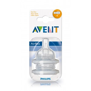 PHILIPS AVENT Replacement Teats Level 4