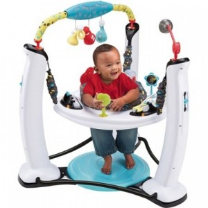 Evenflo ExerSaucer Jump & Learn Stationary Jumper (Jam Session)
