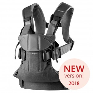 BabyBjorn Baby Carrier One Denim/Grey Cotton Mix (New 2018!)