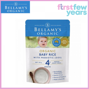 BELLAMY'S ORGANIC BABY RICE CEREAL WITH PREBIOTIC (GOS) 125G