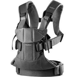 BabyBjorn Baby Carrier One Denim/Grey Cotton Mix
