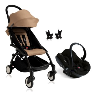 Babyzen Yoyo+(Black Frame) Travel System With Cybex Aton 5 Infant Car Seat