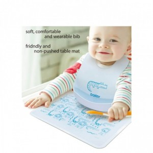 Bailey Baby Silicone Bib and Silicone Table Mat