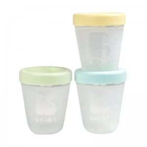 Beaba Set Of 3 Single Portions Silicone - Spring