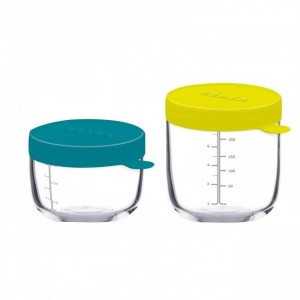 Beaba Set of 2 Glass Containers