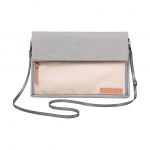Petunia Pickle Bottom Crossover Clutch-Birch/Stone