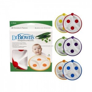 DR. BROWN'S DIVIDED FEEDING PLATE - 2 PACK