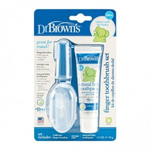DR. BROWN'S FINGER TOOTHBRUSH SET WITH TOOTHPASTE