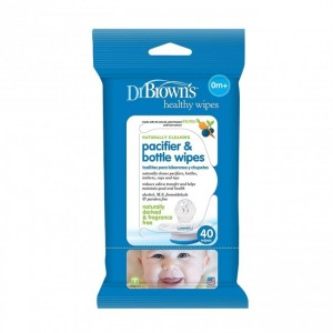 Dr. Brown's Pacifier & Bottle Wipes 40Pcs