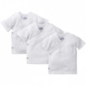 Gerber 3-Pack White Side Snap Short Sleeve Shirts