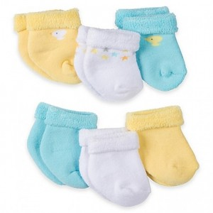 Gerber 6-Pack Neutral Terry Bootie Socks - Duck