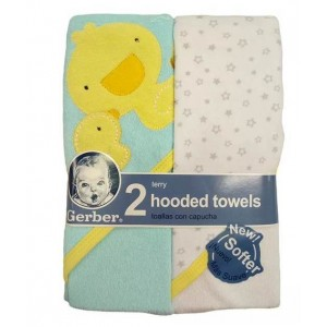 Gerber 2Pk Terry Hooded Towels