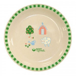 Green Sprouts Plant Fiber Plate