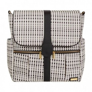 JJ COLE BACKPACK DIAPER BAG-CREAM BLACK