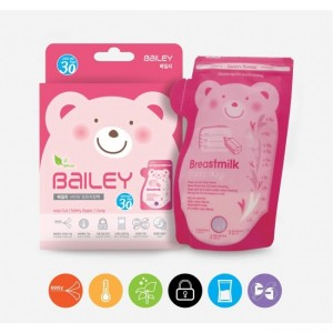 Bailey View Breastmilk Bags with Thermal Sensor (30pcs) | Made in Korea