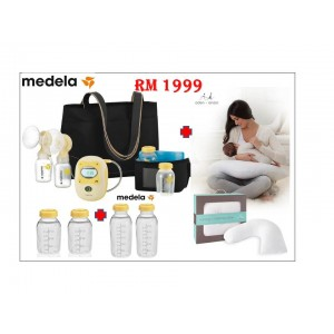 Medela Freestyle Electric Breast Pump Bundle With Aden+Anais Nursing&Maternity Pillow