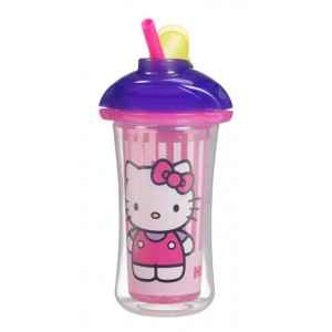 MUNCHKIN Hello Kitty Click Lock Insulated Straw Cup 9oz