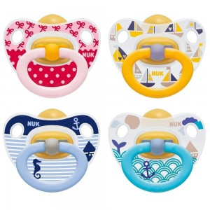 NUK Orthodontic Latex Soother (2Pk)-0-6M