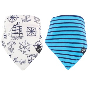 Hudson Baby 2Pc Bandana Bibs(Sailor)