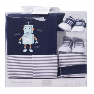 Hudson Baby 5Pc Layette Set(Robot)
