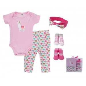 Hudson Baby 5Pc Layette Set(Pink)
