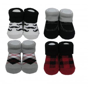 Hudson Baby 4Pc Boy Sock Gift Set