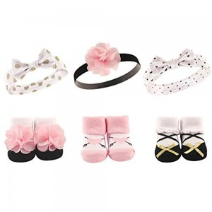 Hudson Baby 6Pc Headband & Sock Gift Set(Pink)
