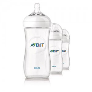 PHILIPS AVENT 11 Oz BPA Free Natural Polypropylene Bottles 3 Pack