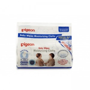 PIGEON BABY WIPES MOISTURIZING CLOTHS 70S X 2 PACKS