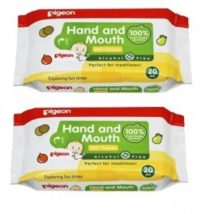 Pigeon Hand And Mouth Wet Tissues 20S X 2 Packs