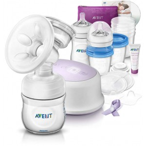 PHILIPS AVENT Comfort Single Electric Breast Pump and Breastfeeding accessories