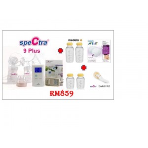 Spectra 9+ Double Breast Pump Bundle Set