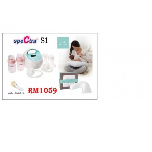 Spectra S1 Double Breast Pump Bundle With Aden&Anais Nursing+Maternity Pillow