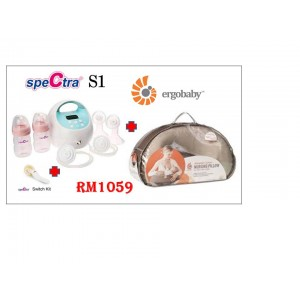 Spectra S1 Double Breast Pump Bundle With Ergobaby Natural Curve Nursing Pillow