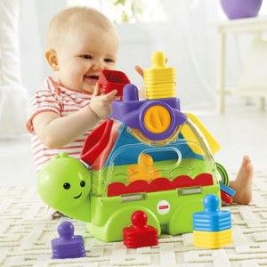 FISHER-PRICE LITTLE STACKERS SORT'N SPILL TURTLE